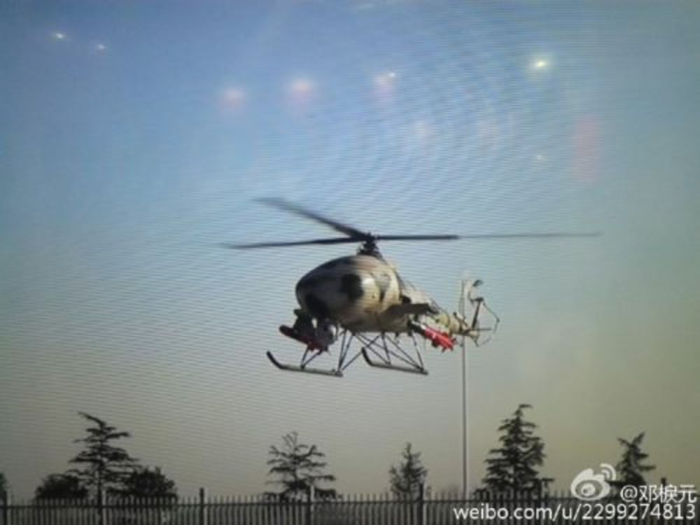 Largest China's Pilotless Helicopter V750 Begins to Test Fire Anti-Tank Missiles