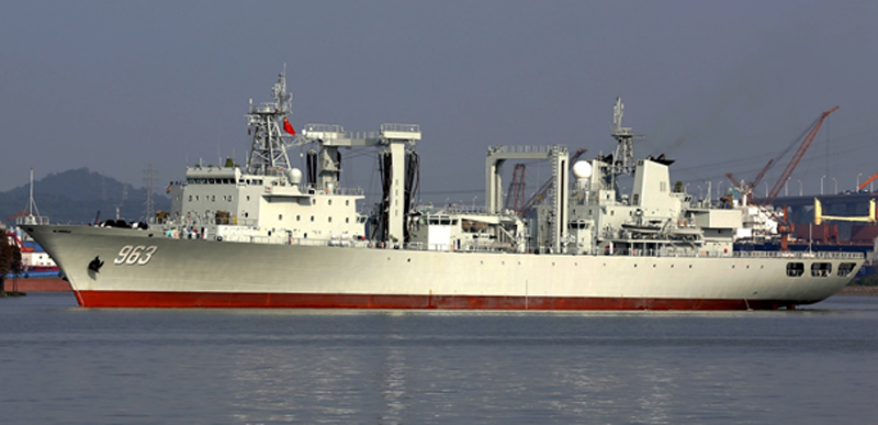 Newly commissioned Type 903A replenishment vessel. The PLAN continues to expand its complement of logistics support vessels.