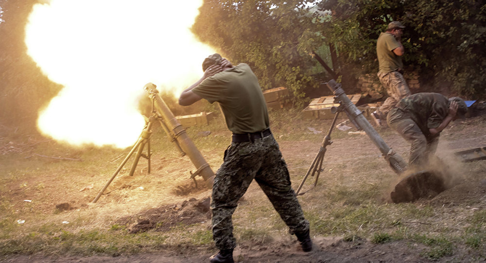 Ukrainian Military Fire LPR's Territory with Grenade Launchers & Mortars