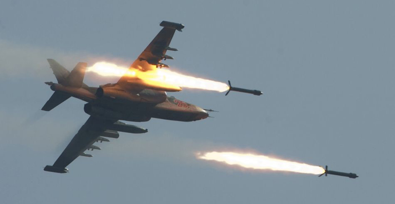 Syrian Fighter Jets Hit Terrorists Intending to Join Aleppo Battle