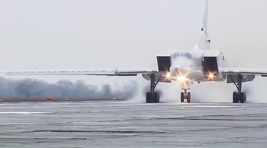 Russian Tu-22M3 Bombers Devastate ISIS from Iran's Hamadan Air Base (Video)