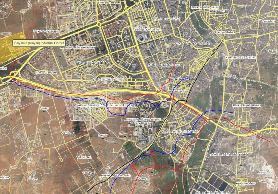 Overview of Military Situation in Aleppo City on August 8 (Maps, Videos)