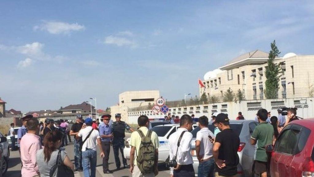 Car Bomb Attack on Chinese Embassy in Bishkek, Kyrgyzstan (Photo & Video)