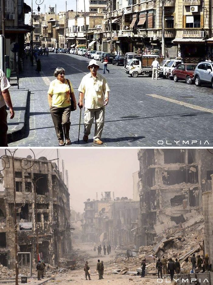 Photo Comparison: Aleppo City - Before and After 'Arab Spring'