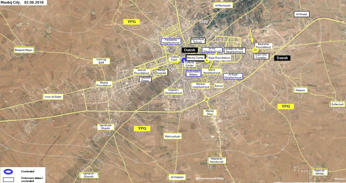 Kurdish Units Enter Manbij City Center, Take Control of Bujia and Bashshar Roundabouts