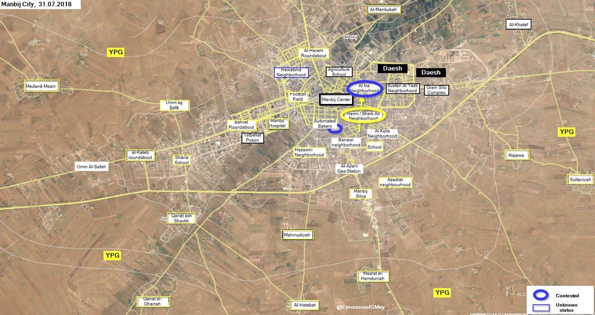 Syrian Democratic Forces Take Control of Naimi Neighborhood in Manbij