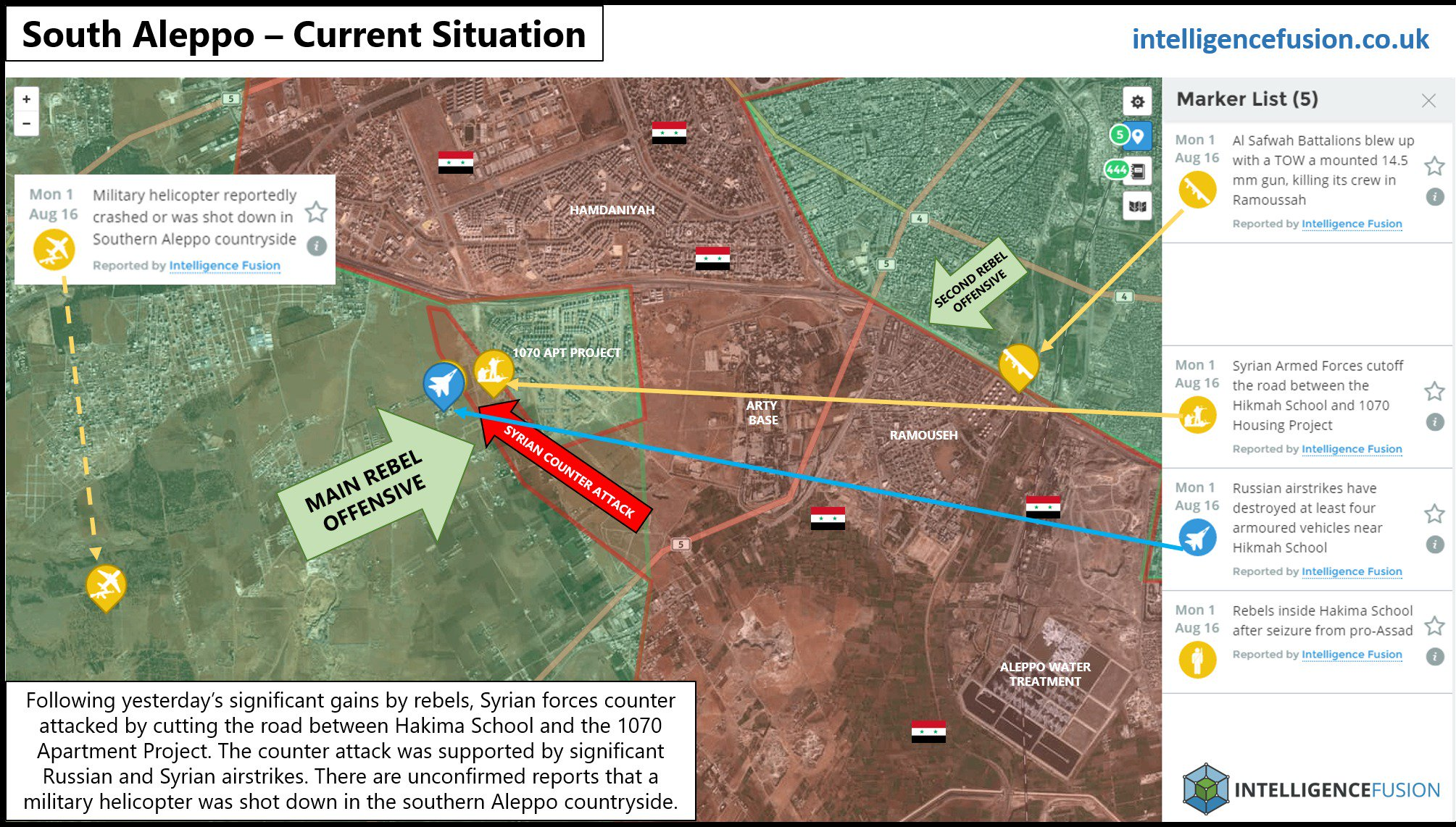 Russian Aerospace Forces Pulverize Area of Downed MI-8, Syrian Army Counter-Attacks in South Aleppo