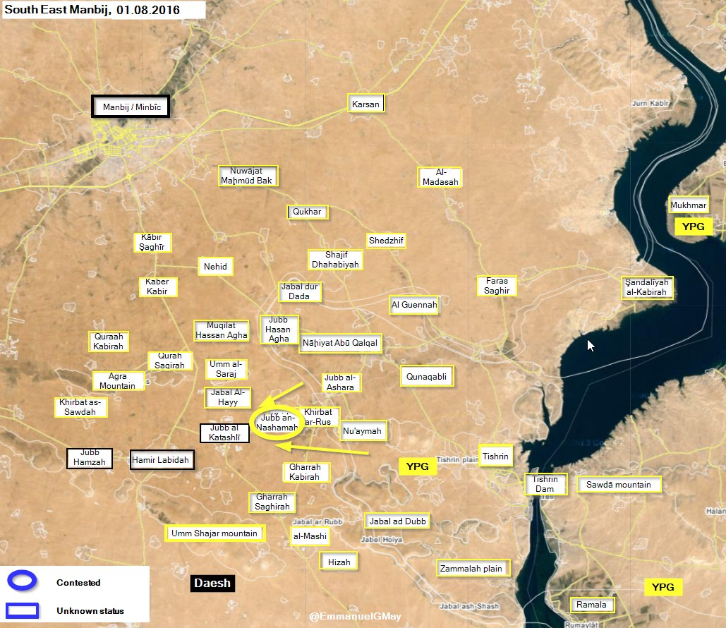 Syrian Democratic Forces Regain Jubb an-Nashamah from ISIS in Aleppo Province