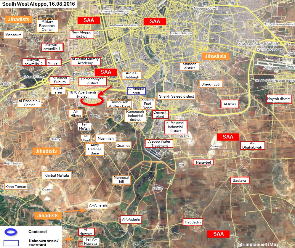Syrian Army & Hezbollah Seize 1070 Apartment Project, Continue Advances in Southwestern Aleppo