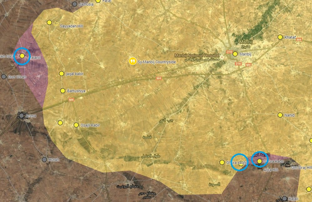 Syrian Democratic Forces Advancing South and West of Manbij
