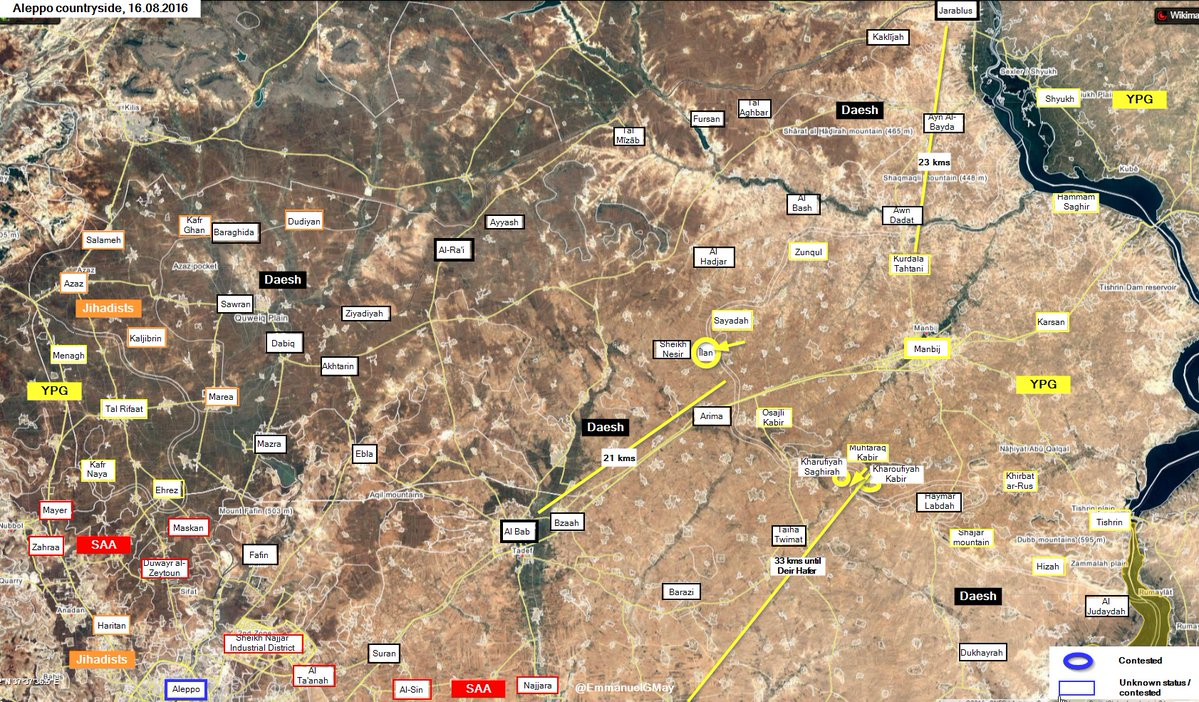 Syrian Democratic Forces Seize Village in 24 km from Al Bab