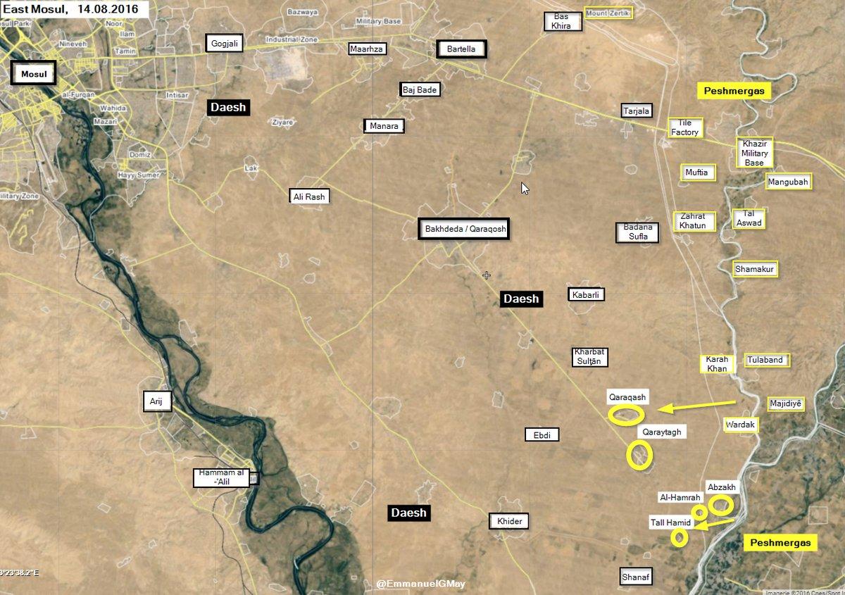 Iraq: Kurdish Peshmerga Advancing Southeast of Mosul