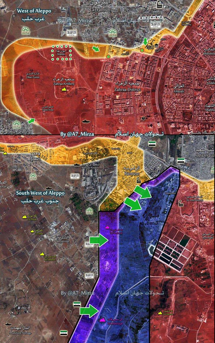 Jaish al-Fatah Militants Launch Attacks in Western and Southwestern Aleppo