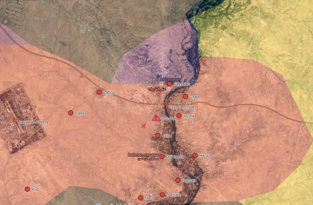 Iraqi Forces Engaging ISIS Terrorists in Qayyara