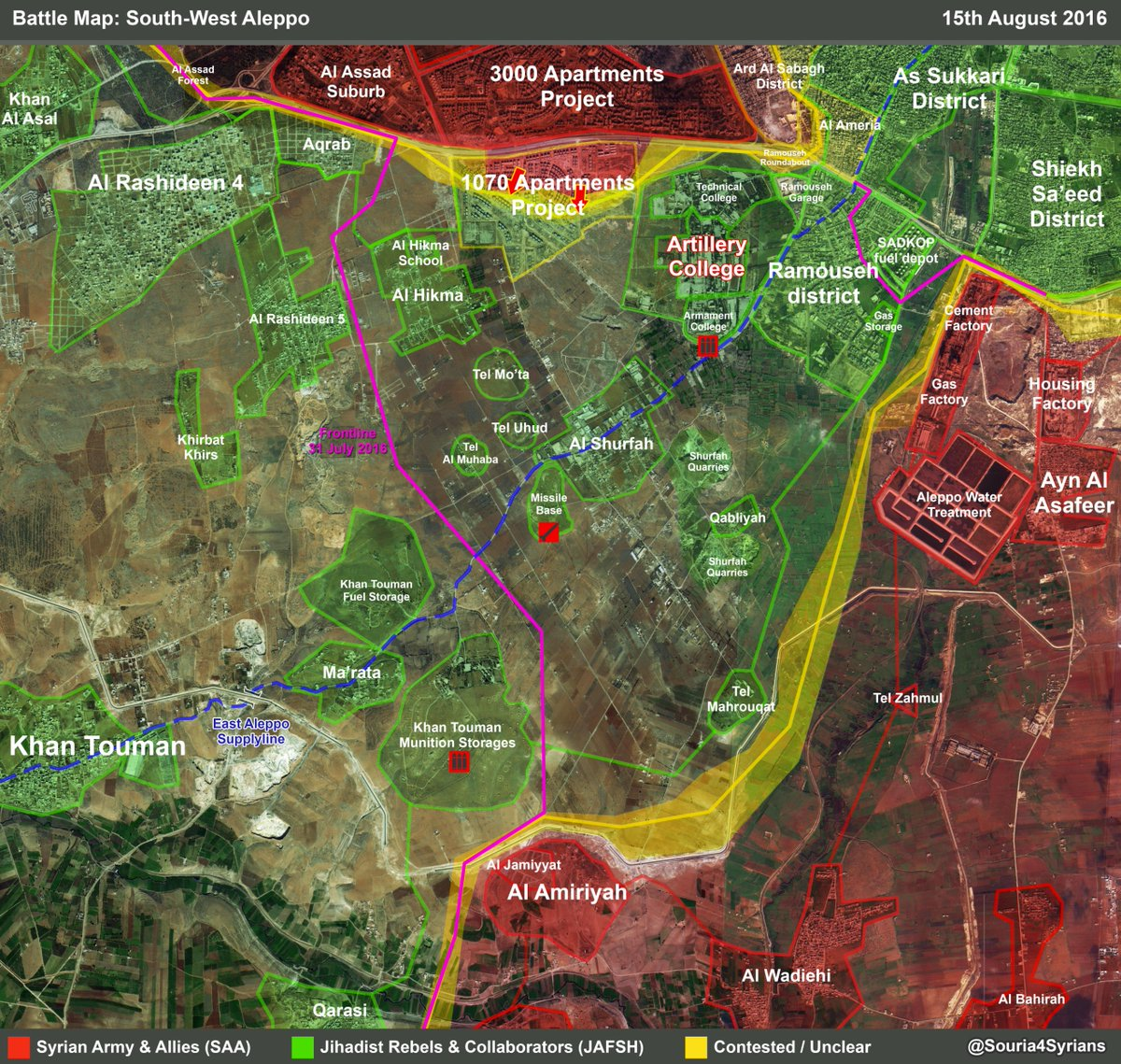 Syrian Army Liberates Over Half of 1070 Apartment Project in Southwestern Aleppo. Offensive Ongoing