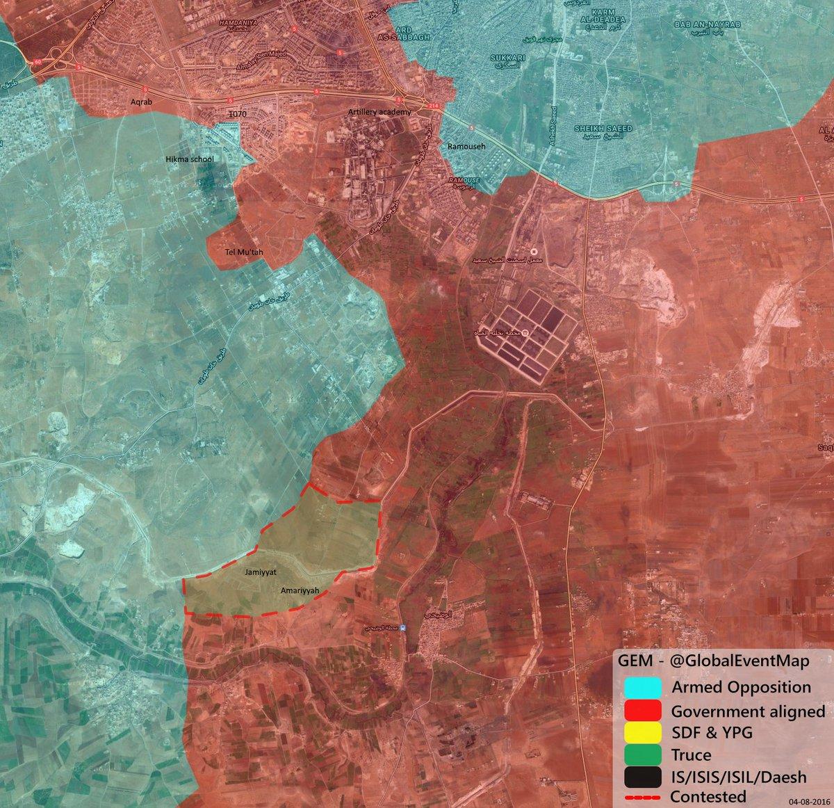 Jihadists Claim Capture of Jamiyat and Amiriyah in Southwestern Aleppo