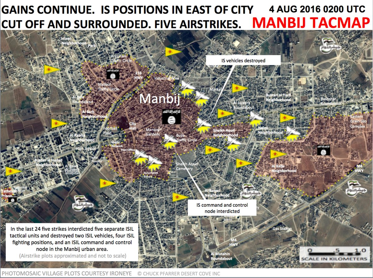 Military Situation in Manbij on August 4