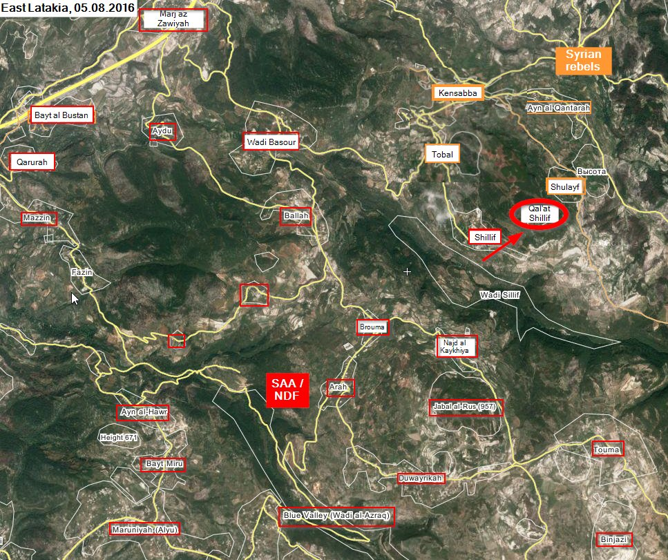 Military Situation in Northern Latakia on August 5