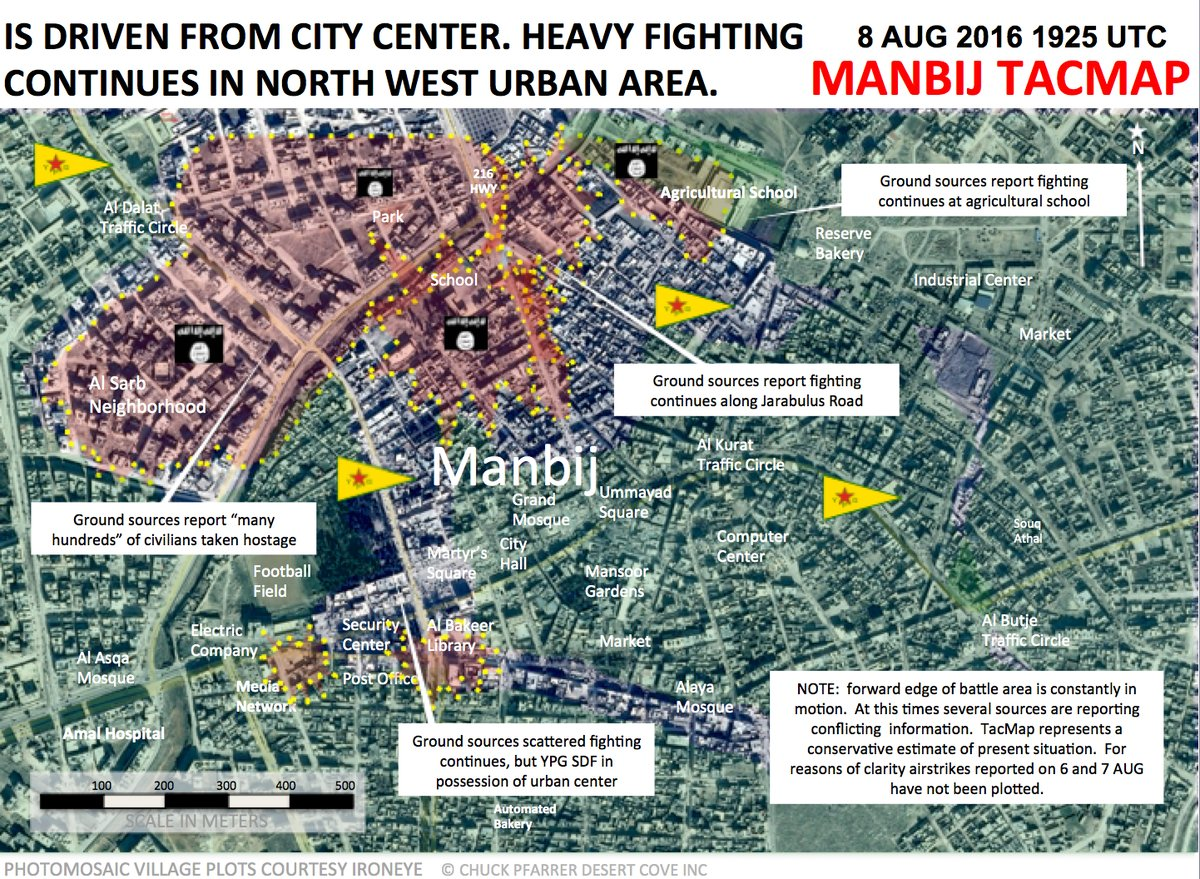 ISIS Is Driven from Manbij City Center. Clashes Ongoing