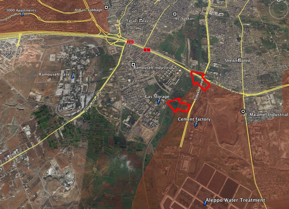 Reinforced Pro-Government Forces Advancing in Southern Aleppo