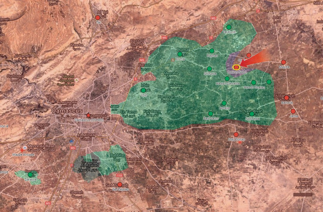 Syrian Army Takes Control of Another Town in Eastern Ghouta