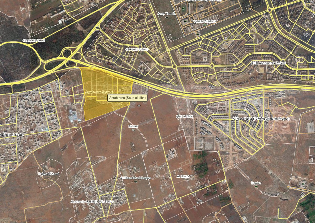 Overview of Military Situation in Aleppo City on August 10