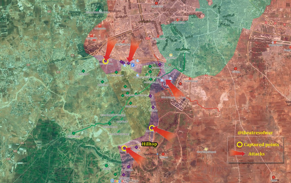 Syrian Army Seeks to Set Fire Control of Jihadi Corridor to Eastern Aleppo
