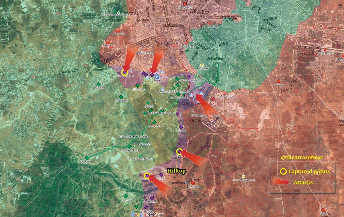Syrian Army Seeks to Set Fire Control of Jihadi Corridor to Eastern Aleppo