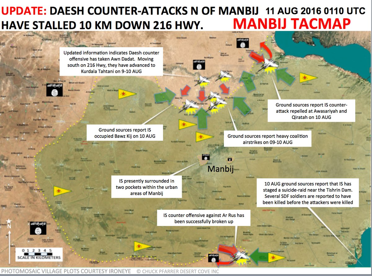 ISIS Counter Attack North of Manbij