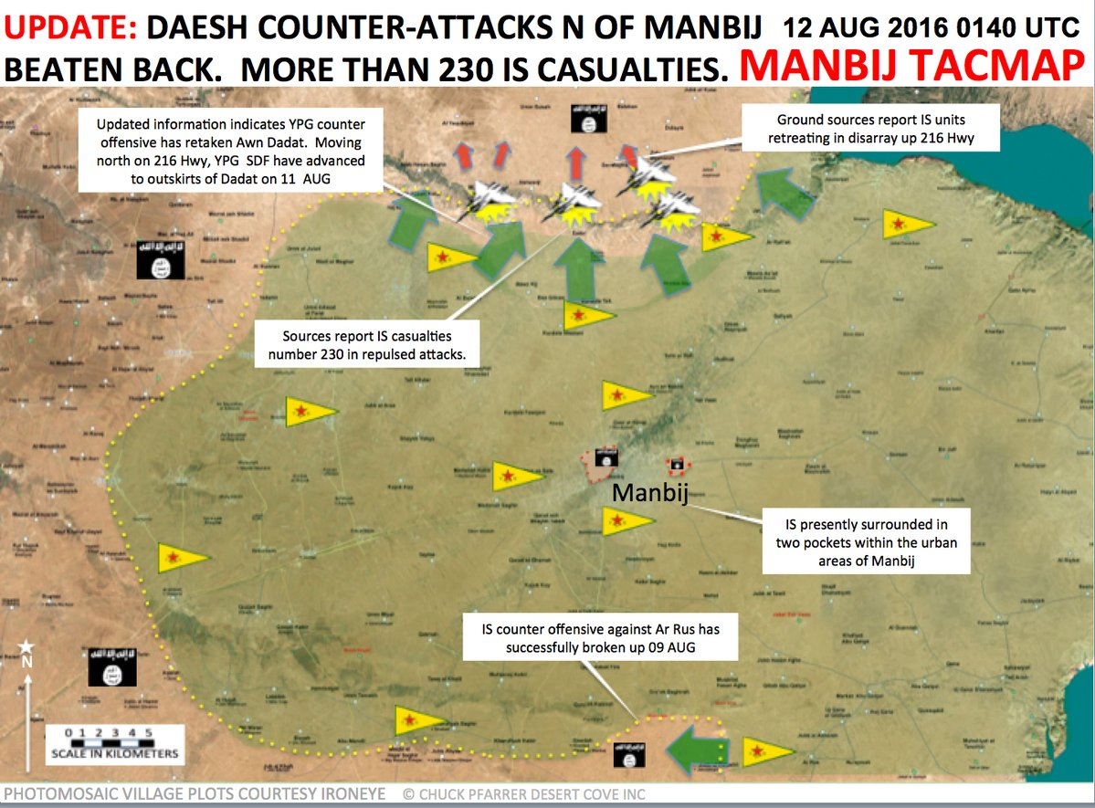 230 Terrorists Killed in Failed ISIS Offensive North of Manbij