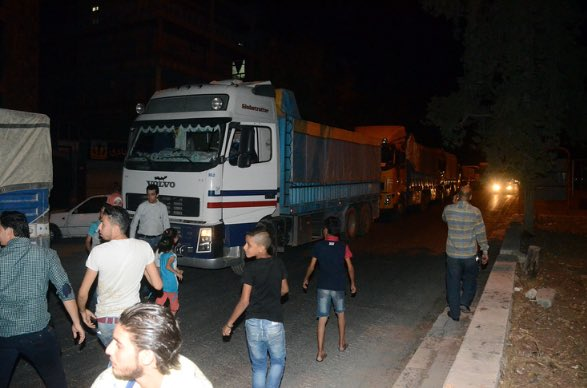 Syrian Government Sends 40-Truck Aid Convoy to Aleppo City
