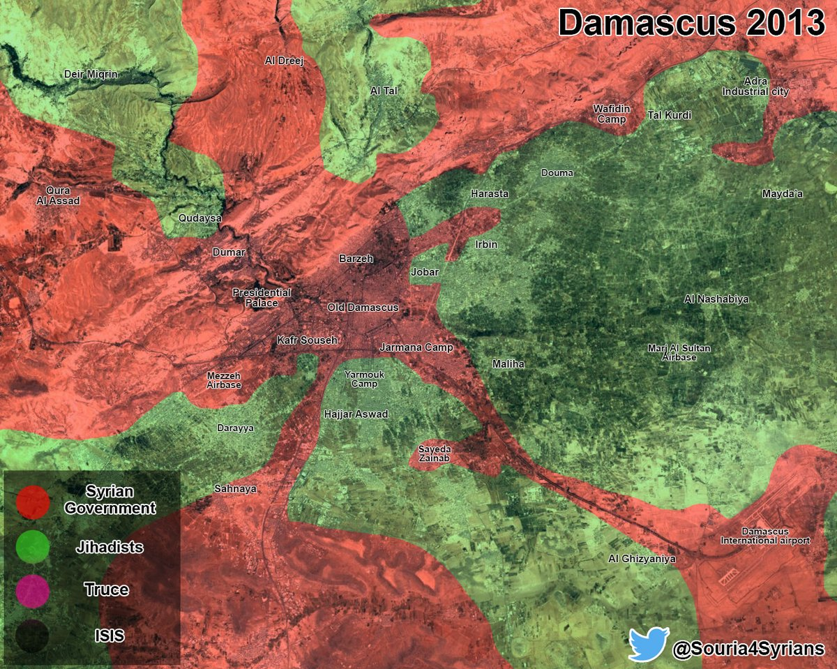 Map Comparison: Damascus 2013 Vs Damascus 2016