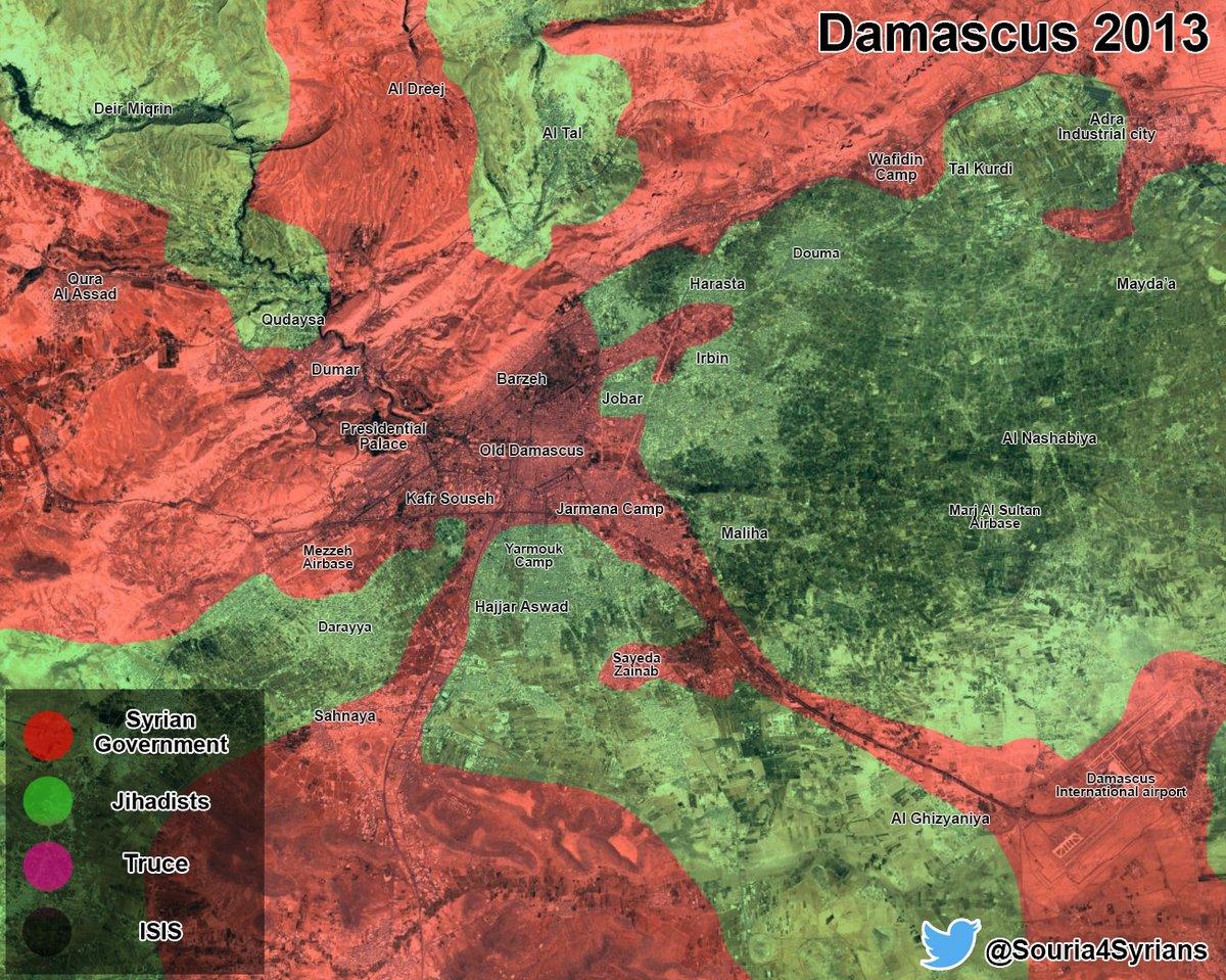 Map Comparison: Damascus 2013 Vs Damascus 2016