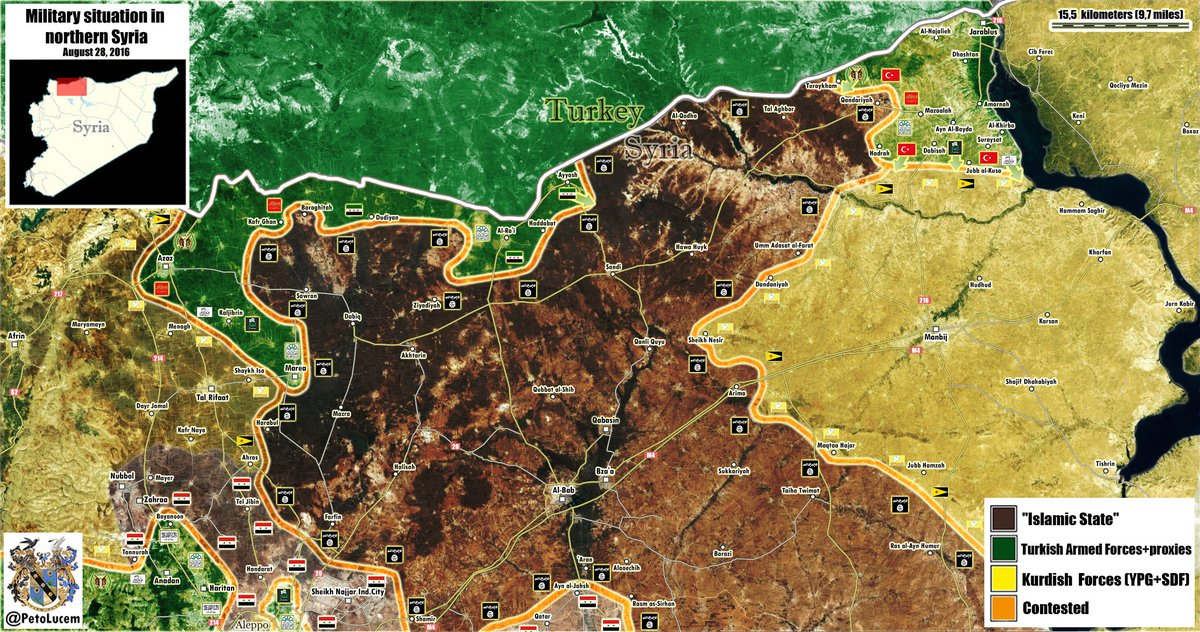 Map Update: Military Situation in Aleppo Province, Syria on August 28