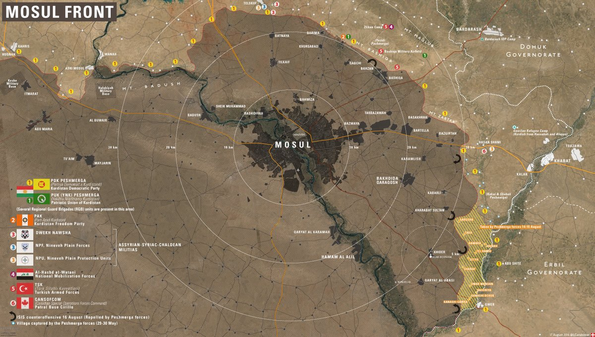 Map: Peshmerga Advances Southeast of Mosul, Iraq