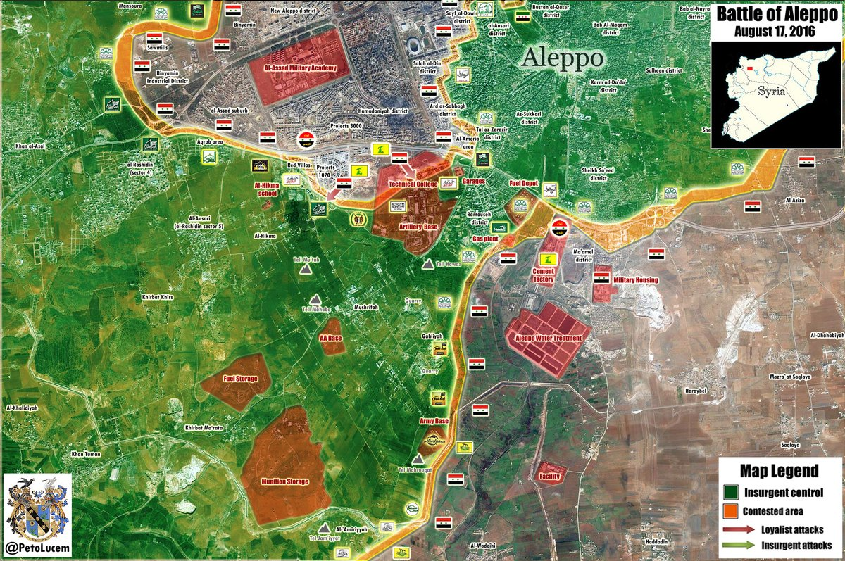 Overview of Military Situation in Aleppo City on August 18 (Maps, Videos)