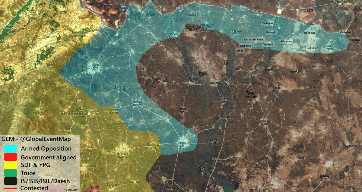 Fierce Clashes in Syira's Aleppo Province (Video, Map)