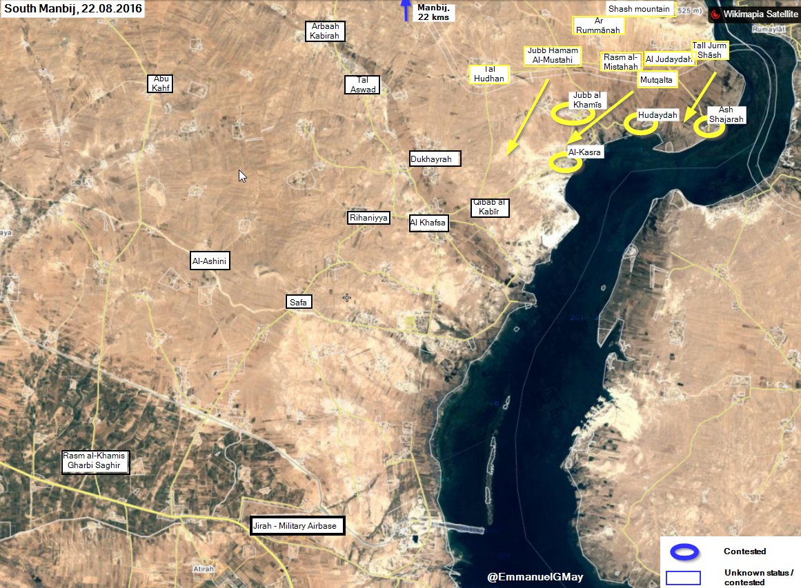 Overview of Military Situation in Syria on August 23