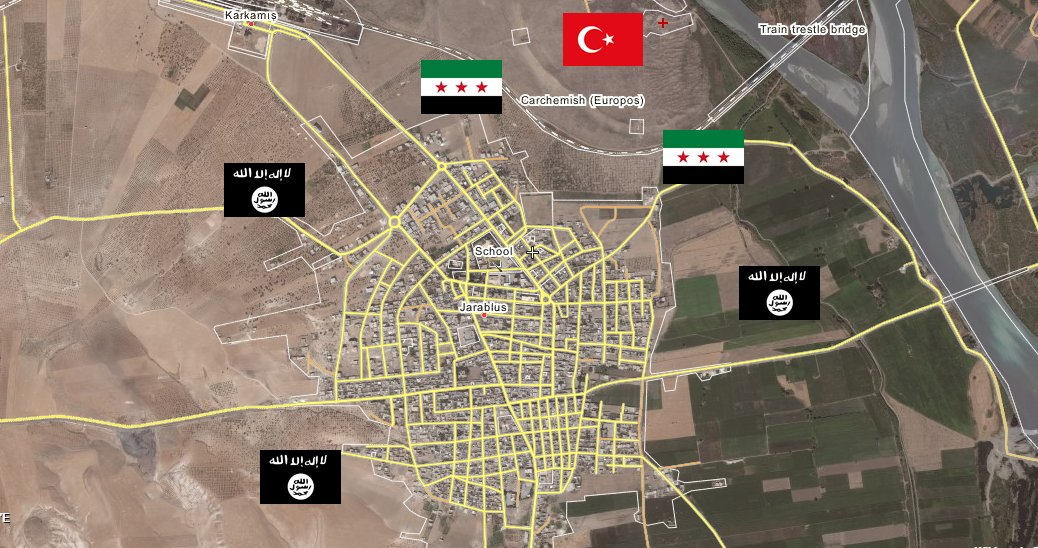 Turkish Military Launches Operation to Seize Jarablus in Northern Syria (Videos, Map)