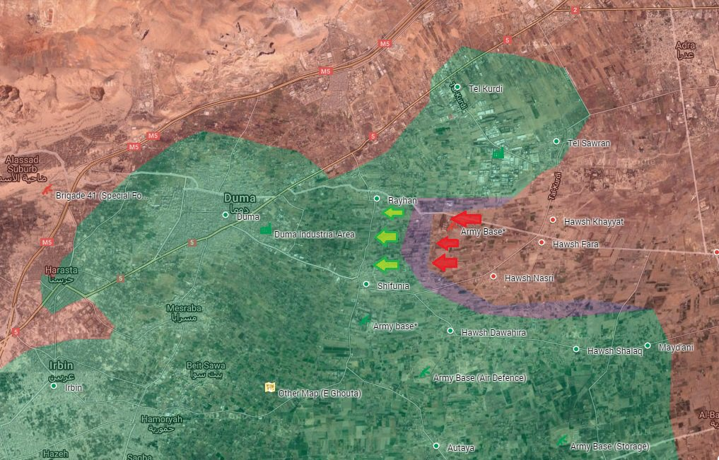 Syrian Army Seizes More Areas in Eastern Ghouta