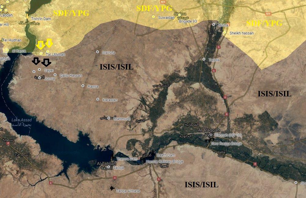 SDF Conducting Operations at Both Banks of Euphrates River despite Turkey's Warnings