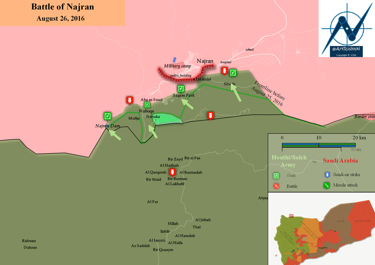 Houthi Alliance Advancing on Saudi Border City of Najran