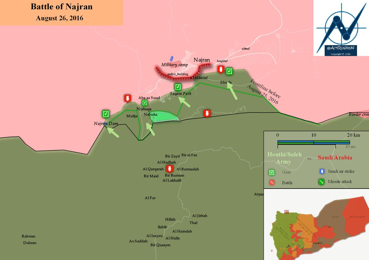 Houthi Alliance Advancing on Saudi Border City of Najran