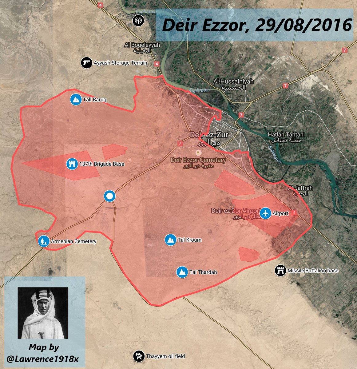 Military Situation in Deir Ezzor, Syria on August 29