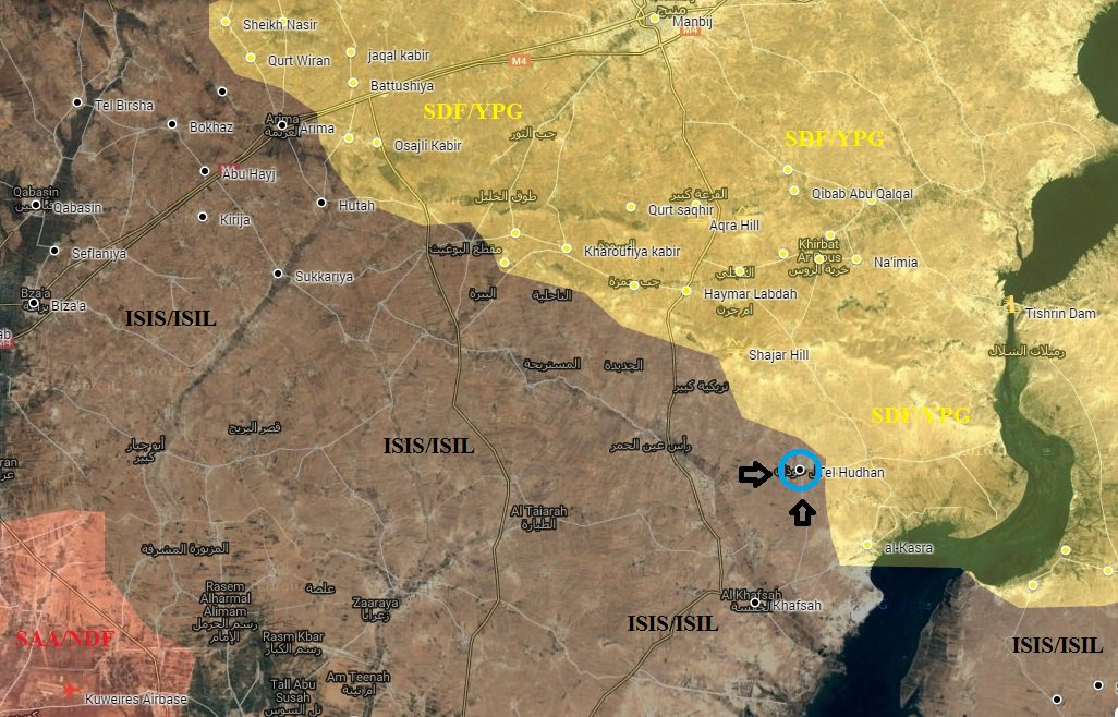 Turkey-led Forces and ISIS Attack SDF in Northern Syria