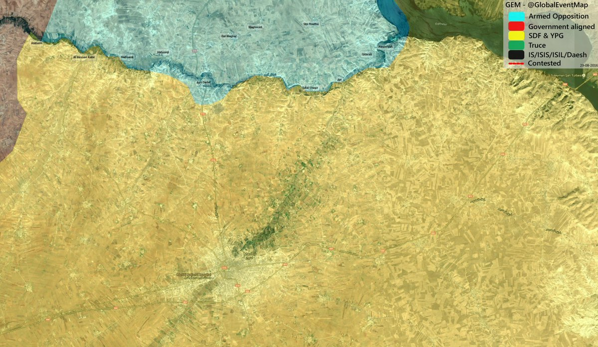 Turkey-led Forces Are in 13 km from SDF-controlled City of Manbij