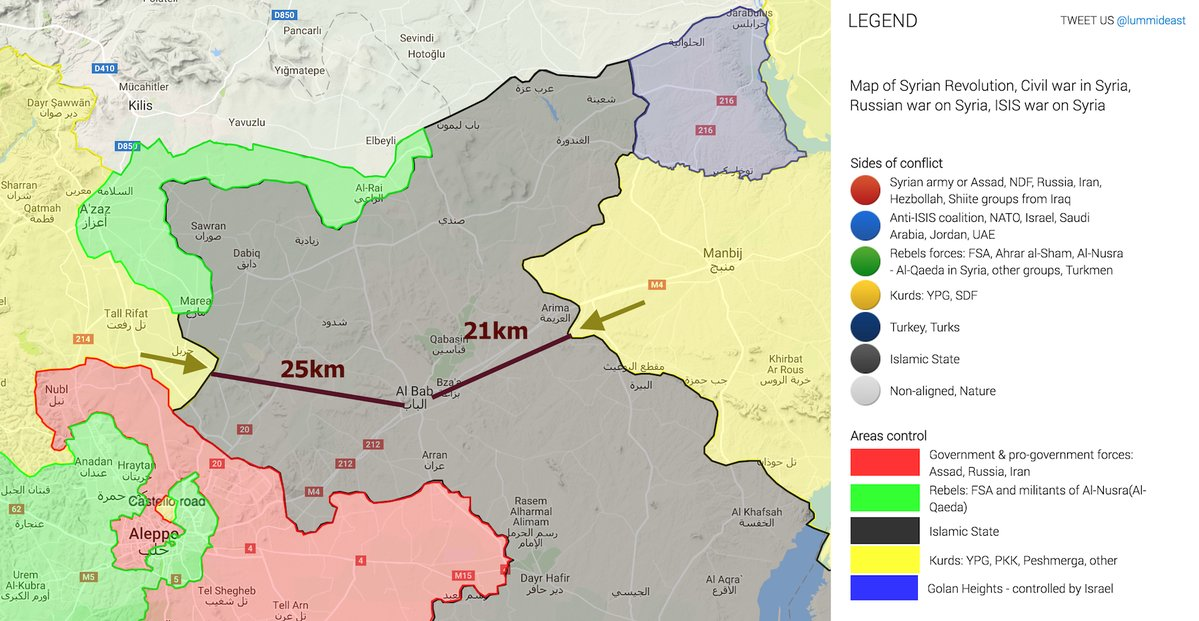 Race for Al Bab: Kurfish YPG Advancing from Afrin