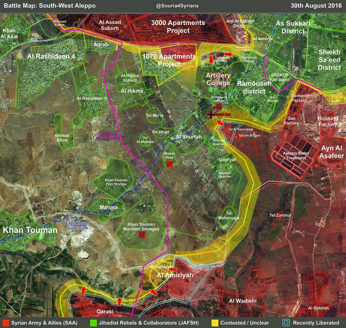 Syrian Army & Hezbollah Overrun Militant Defenses in Southern Aleppo