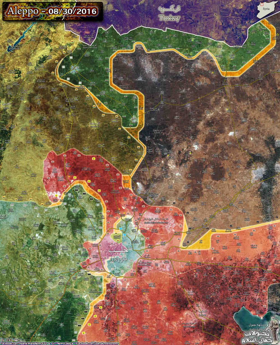 Overview of Military Situation in Northern Syria On August 31