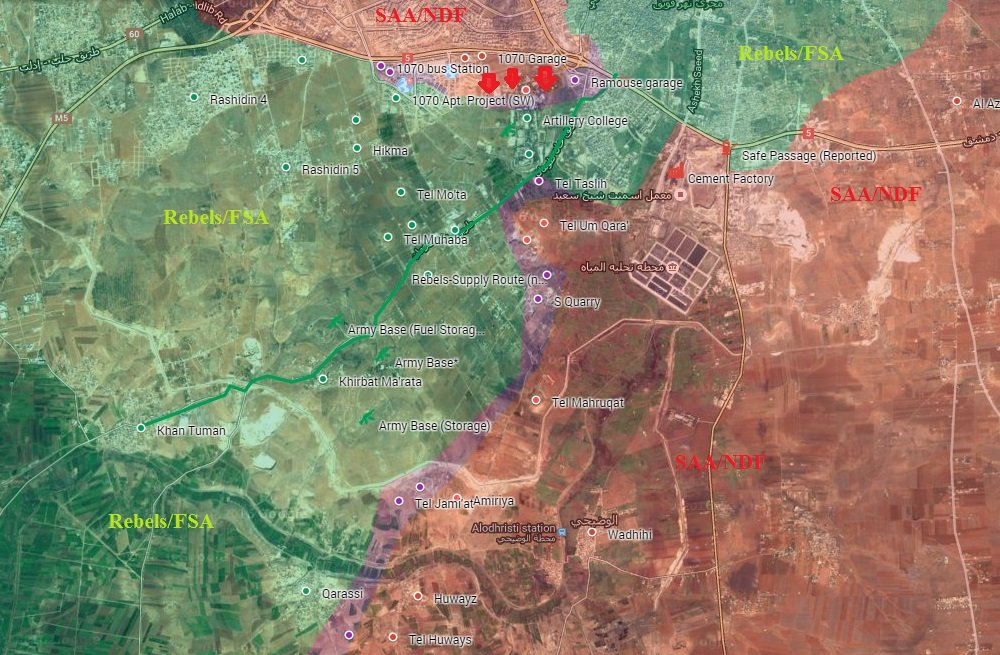 Syrian Army Takes Control of Strategic Air Force Technical Base in Southwestern Aleppo